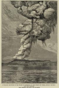 A Volcanic Eruption at the Island of Krakatau in the Straits of Sunda