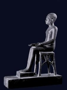 A Votive Statuette of Imhotep the Architect of Djoser Who Built the Step Pyramid