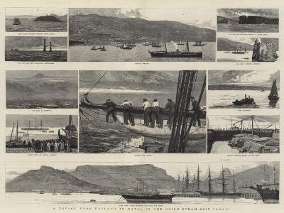A Voyage from England to Natal in the Union Steam-Ship Arab-Joseph Nash-Giclee Print