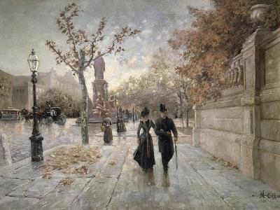 A Walk Along Maximilian Street in Munich, Germany--Giclee Print
