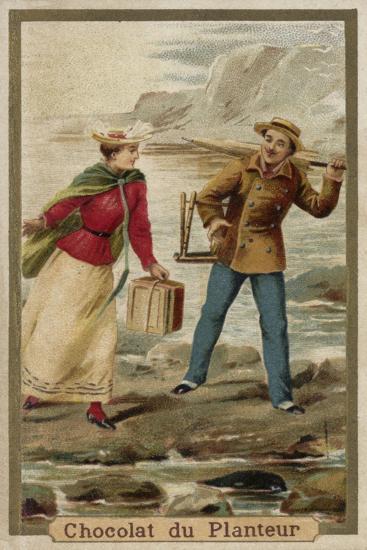 A Walk by the Seaside--Giclee Print