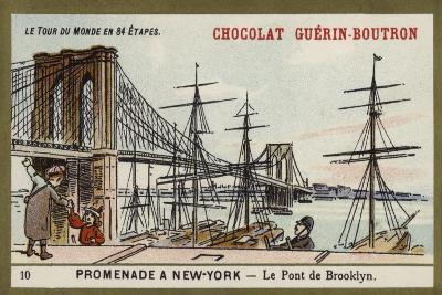 A Walk in New York - the Brooklyn Bridge--Giclee Print