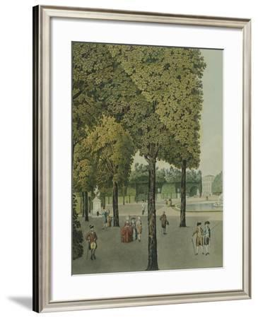 A Walk in Schoenbrunn Gardens, Near Vienna--Framed Giclee Print