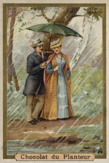 A Walk on a Rainy Day--Giclee Print