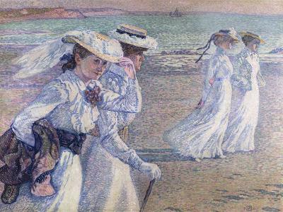 A Walk on the Beach-Theo van Rysselberghe-Giclee Print