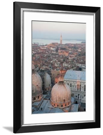 A Warm, Orange Sunset in Venice, Italy-Chris Bickford-Framed Photographic Print
