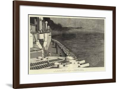 A Warm Reception for a Torpedo Boat-Joseph Nash-Framed Giclee Print