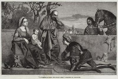 A Warrior Adoring the Infant Jesus-Giorgione-Giclee Print