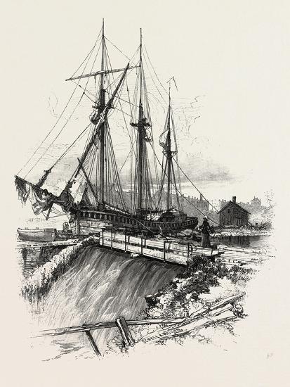 A Waste Weir, Canada, Nineteenth Century--Giclee Print