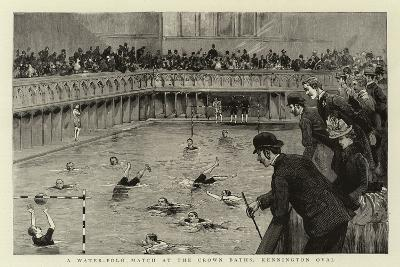 A Water-Polo Match at the Crown Baths, Kennington Oval--Giclee Print
