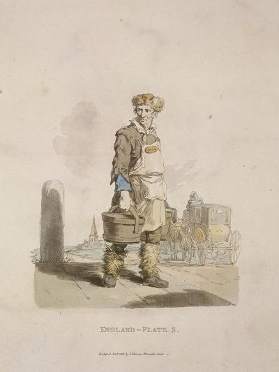 A Waterman to a Coach Stand, Provincial Characters, 1813--Giclee Print