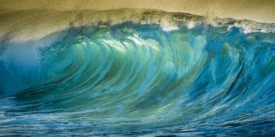 A Wave Breaks at Papohaku Beach on Molokai's West End-Richard A^ Cooke-Photographic Print