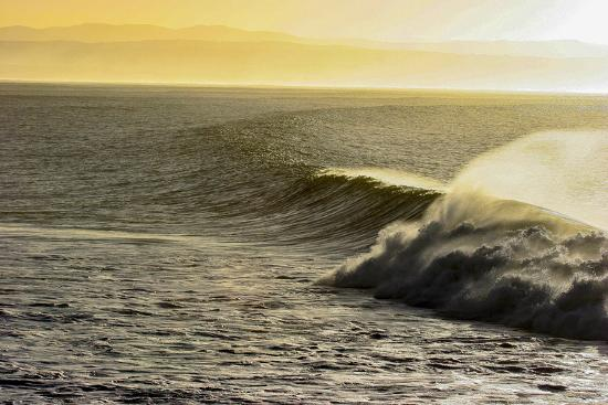 A Wave Breaks on a Lava Reef in South Africa's Jeffreys Bay-Luis Lamar-Photographic Print