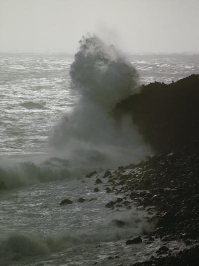 A Wave Splashes on the Shore of Tristan Da Cunha Island-James P^ Blair-Photographic Print