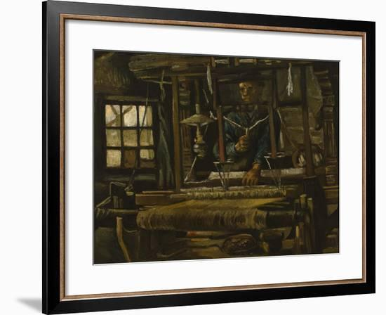 A Weaver's Cottage-Vincent van Gogh-Framed Premium Giclee Print