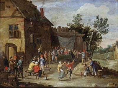 A Wedding Feast in the Courtyard of a Village Inn-Jan van Kessel the Elder-Giclee Print