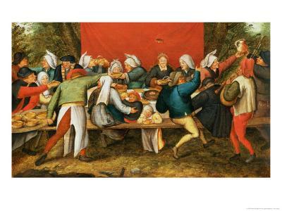 A Wedding Feast-Pieter Brueghel the Younger-Giclee Print