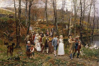 A Wedding Procession, 1879-Marie Francois Firmin-Girard-Giclee Print