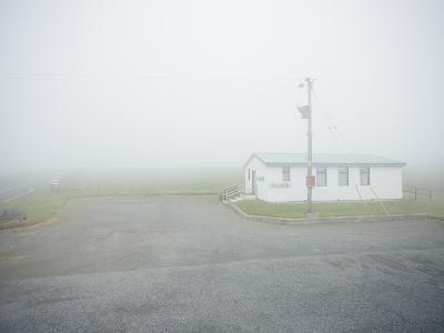 A Welcome Break at an Isolated Highland Tea Room in Foggy Scottish Weather, Scotland, U.K.-Craig Easton-Photographic Print