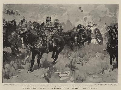 A Well-Aimed Boer Shell, an Incident in the Battle of Elands Laagte-Frank Craig-Giclee Print
