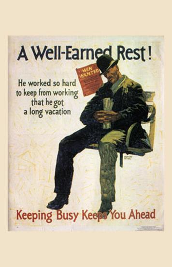 A Well-Earned Rest, 1930-Robert Beebe-Art Print