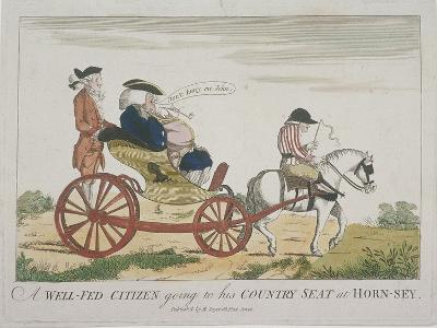 A Well-Fed Citizen Going to His Country Seat at Hornsey, 1773--Giclee Print