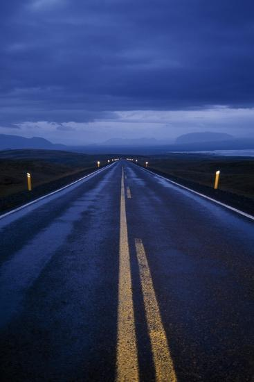 A Well Marked Road Leading to Thingvellir and Lake Thingvallavatn-Macduff Everton-Photographic Print
