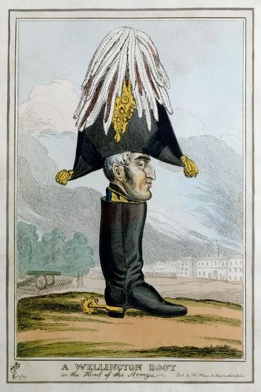 'A Wellington Boot- or the Head of the Armye', 19th century-Unknown-Giclee Print
