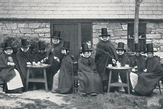 A Welsh tea party, 1912-Unknown-Photographic Print