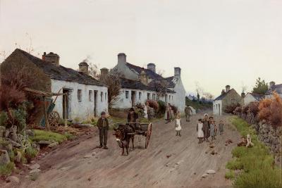 A Welsh Village - Evening-Peter Ghent-Giclee Print