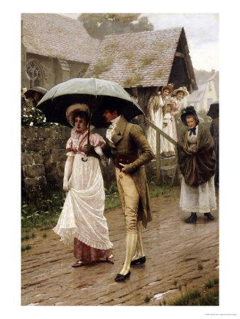 A Wet Sunday Morning, 1896-Edmund Blair Leighton-Framed Giclee Print