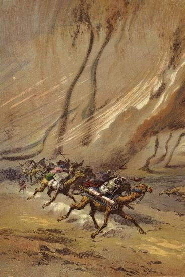 A Whirlwind of Sand in Sahara--Giclee Print