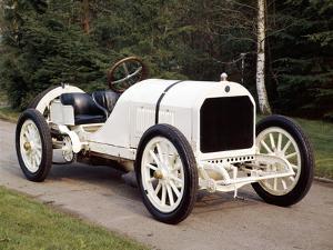 A White 1908 Benz Racer