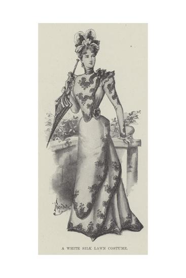 A White Silk Lawn Costume--Giclee Print