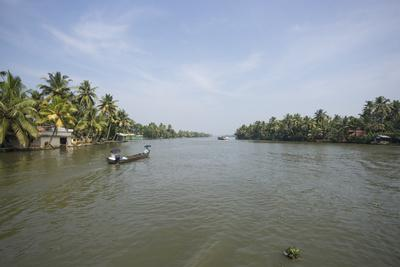 A Wide Angle View of the Backwaters in Southern India-Kelley Miller-Photographic Print
