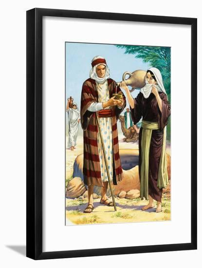 A Wife for Isaac-Clive Uptton-Framed Giclee Print