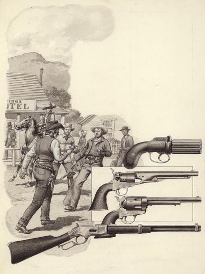 A Wild West Gunfight-Pat Nicolle-Giclee Print
