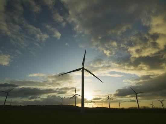A Windfarm in Workington, United Kingdom-Ashley Cooper-Photographic Print
