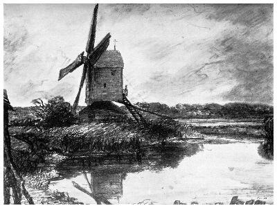 A Windmill, 1802-John Constable-Giclee Print
