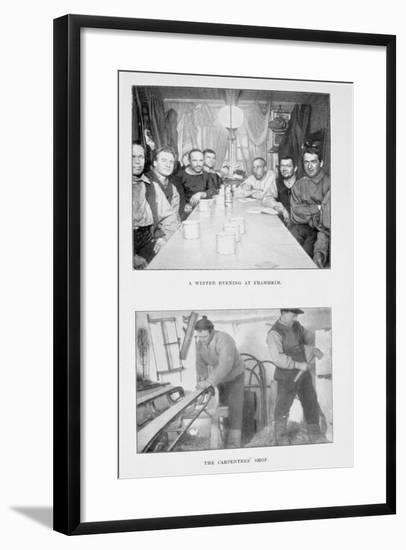 A Winter Evening at Framheim--Framed Giclee Print