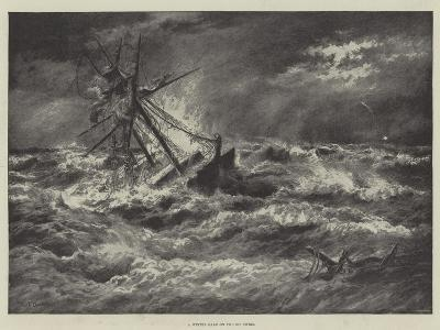 A Winter Gale on the Goodwins--Giclee Print