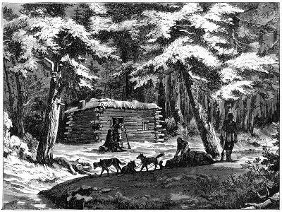 A Winter Hut in the Saskatchewan Country, Canada, 1877--Giclee Print