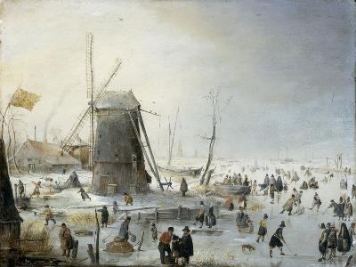 A Winter's Landscape with Skaters-Hendrik Avercamp-Giclee Print