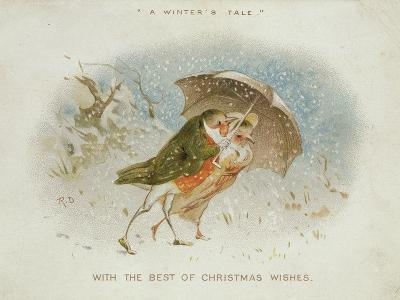 A Winter's Tale, Victorian Christmas Card-R. Dudley-Giclee Print