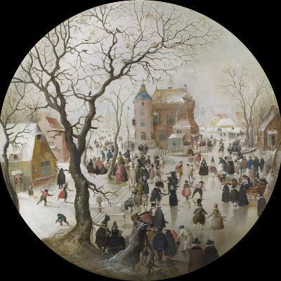 A Winter Scene with Skaters Near a Castle-Hendrick Avercamp-Giclee Print