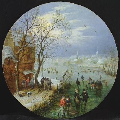 A Winter Skating Scene-Adriaen Pietersz van de Venne-Giclee Print