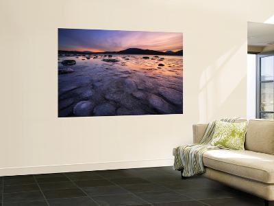 A Winter Sunset at Evenskjer in Troms County, Norway-Stocktrek Images-Wall Mural