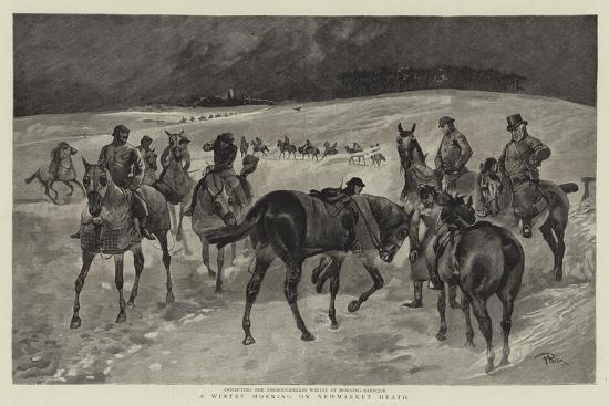 A Wintry Morning on Newmarket Heath--Giclee Print