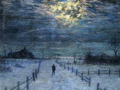 A Wintry Walk-Lowell Birge Harrison-Giclee Print