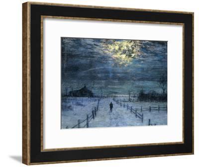 A Wintry Walk-Lowell Birge Harrison-Framed Giclee Print